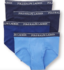 Polo Ralph Lauren Classic Fit Briefs - 4 Pack (Blue Shades)