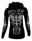 Внешний вид - Affliction Women's Hoodie Sweat Shirt MARIA CROSS Biker ---