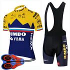 Mens Cycling Short Sleeve Jersey Bib Shorts Suit 2021 Summer Team Bike Uniform