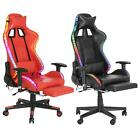 Massage Racing Gaming Chair Chair with RGB LED Lights