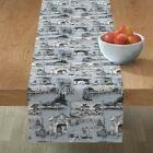 Table Runner Paris French Toile Cotton Sateen