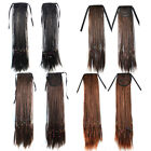 45CM Long Straight Braided Ponytail Hair Extensions Hairpiece Hook Pony Tail