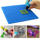 3D Printing Silicone Mat Drawing Copy Template Graffiti Pad With 2 Finger Caps