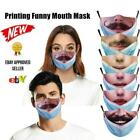 2021 New Outdoor Washable Reuse Face Mask Protection Printing Funny Mouth Mask