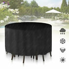 Large Round Waterproof Outdoor Garden Furniture Cover Patio Table Chair Set Uk
