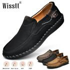 Men's Slip On Leather Loafers Comfort Classic Casual Dress Wedding Driving Shoes