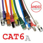 Cat6a Shielded Snagless Ethernet Cable 10g Fast LSZH Network LAN Patch Lead...