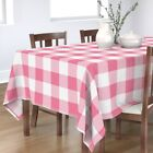 Tablecloth Gingham Check Checkerboard Girly Girl Pink Cotton Sateen