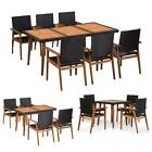 Outdoor Dining Set Garden Table Chair Set Lounge Seating Furniture 2/4/6 Chair