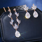 925 Silver Rose Gold Jewelry Sets Earrings Necklace Wedding for Women 1 set