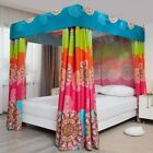 Pangzi Bohemian 4 Corner Post Bed Curtain Canopy Bed Curtain Drapes for Adults G