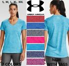 NEW Women Under Armour Twisted Tech Loose Gym Logo V-Neck T-Shirt Tee S-XXL, NWT