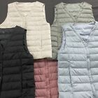 Uniqlo Style Women's Versatile V Neck Ultralight Down Vest Factory Promotion