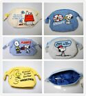 JAPAN PEANUTS SNOOPY  WOODSTOCK COTTON FABRIC COSMETIC BAG COIN BAG W/ ZIPPER