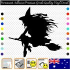 Witch Silhouette - Permanent Adhesive Vinyl Decal Sticker Car/wall/laptop