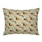 Beer Brewery Happy Hour Ipa Restaurant Lager Hops Pillow Sham by Spoonflower
