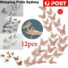 12 Pcs 3d Butterfly Wall Stickers Room Diy Decal Removable Art Home Decorations