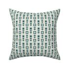 Retro Floral Throw Pillow Cover w Optional Insert by Roostery