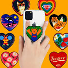 Wiggle Wiggle 9 Designs Heart 3 Steps Finger Griptok Stand Holder For Cell Phone