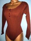 SEXY LADIES BROWN GRAPEVINE BODY TOP SIZE 10 & 12 NEW