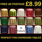 "Plain Tablecloth 173cm Round 68"" 14 Colours Circular Bedside Chipboard Table P73"