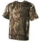 HUNTING CAMOUFLAGE T-SHIRT HUNTERS TOP 100% COTTON MENS TEE REAL TREE BROWN CAMO