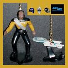STAR TREK USS ENTERPRISE & FIGURE CEILING FAN PULLS-CRUSHER, RIKER, WORF, DATA.. on eBay