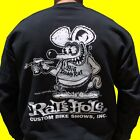 Rat's Hole Black Sweatshirt World Famous BDR Logo