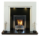 """Somerset Marble Fireplace 54"""" or 48"""" wide/downlights"""