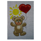 "Needlepoint canvas ""Bear with Heart Balloon"""