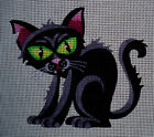 "Needlepoint canvas ""Halloween Black Cat"""
