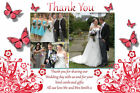 Photo Wedding Thank You Cards *Any Colour*