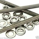 M8 A2 Stainless Threaded Bar - 8mm Rod Studding - 3 Pack + 6 Nuts + 6 Washers