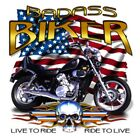 "American Motorcycle "" BAD A$$ BIKER....RIDE TO LIVE "" 50/50 Gildan/Jerzees T SHI"