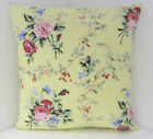 VINTAGE FLORAL SHABBY-CHIC STYTLE FLORAL DUSKY PINK LEMON CUSHION COVERS