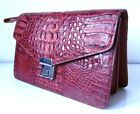 GENUINE CROCODILE HANDBAG HOLDER MENS BAG BROWN BLACK