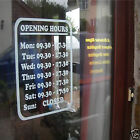 Retail Shop, Hair Dressers, Shop Opening Times Graphic Transfer Sticker