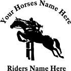 Personalised Trailer Horsebox Graphic Decal Sticker Birthday Gift Equestrian