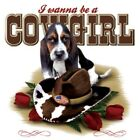 "Girls Horse "" I WANNA BE A...COWGIRL"" 50/50 Gildan/Jerzees T SHIRT"