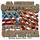 American  CARPENTER  FREE Shipping 50/50 Gildan/Jerzees T SHIRT