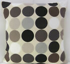 RETRO BROWN BEIGE GREY BLACK 60'S DESIGN CUSHION COVERS