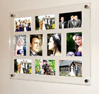 """XL Acrylic magnetic easy change multi picture photo frame 10x 5x7"""" all colours"""
