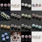 Colorful Crystal Rhinestone Floral Round Ball Disco Loose Spacers Beads Findings