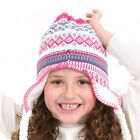 NEW Girls Fleece Knitted Peruvian Winter Ski Hat Bobble