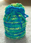 NEW UNIQUE Handmade Crochet GIFT BAGS Pouches Assorted Colors & Sizes