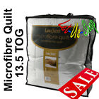 Deluxe Super Soft and Cosy Micro Fibre Duvet Quilt 13.5 Tog Single, Double