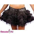 New Black Satin Layered Petticoat Skirt s,m,l,xl,2xl,3xl,4xl,5xl,6xl