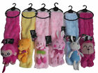 *Girls Boys Kids Multi Animal Scarf Muffle. Pop Up Animal Scarf. Soft Toy Gift*