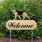 German Shepherd Welcome Sign Stake. Home,Yard & Garden Dog Wood Products & Gifts