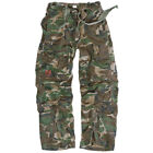 US INFANTRY CARGO TROUSERS MENS COMBATS ARMY STYLE PANTS WOODLAND CAMO XS-XXL
